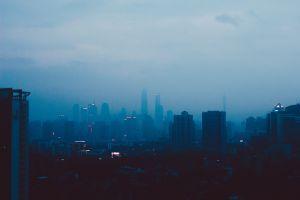skyscraper city cityscape dark