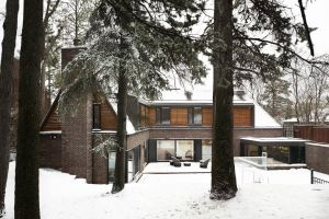 snow architecture forest mansions house