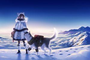 snow dog anime girls