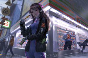 soldier: 76 wlop anime girls artwork d.va (overwatch) overwatch digital art