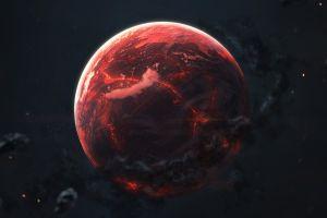 space red planet digital art