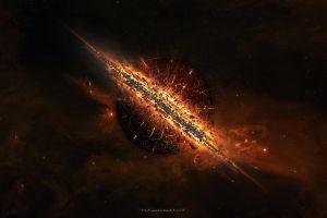 space taenaron digital art planet