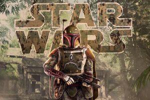 star wars villains bounty hunter artwork blaster boba fett star wars