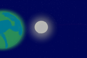 stars earth space moon