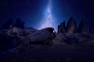 stars landscape night nightscape mountains photo manipulation mountain top milky way iceland space blue