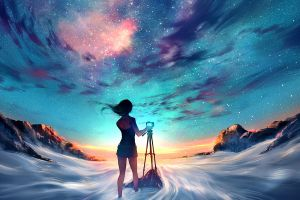 stars yuumei landscape sky camera