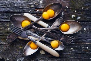 still life food eggs spoon