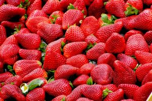 strawberries food red fruit
