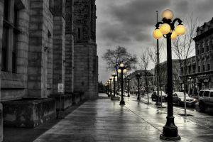street light filter street rain vehicle city