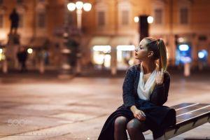 street view ylenia public model glamour women luca foscili black coat holding hair women ponytail 500px glamour