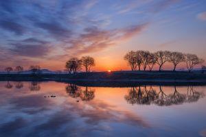 sunlight nature sky reflection