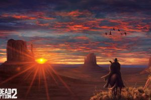 sunlight sky video games video game art 2017 (year) red dead redemption 2