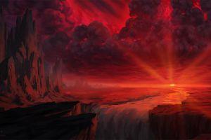 sunrise landscape artwork