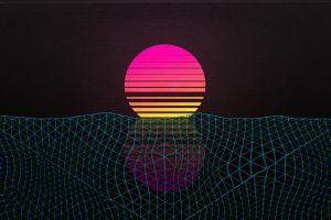 sunset outrun outrun vaporwave