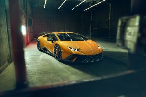 super car  factory hangar yellow cars front angle view lamborghini huracan lamborghini