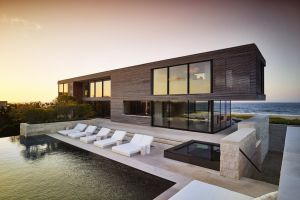 swimming pool luxury mansions house modern architecture