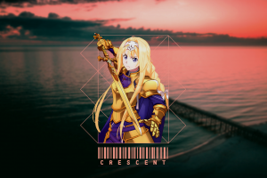 sword art online alicization anime picture-in-picture anime girls blonde alice sword