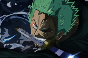 sword one piece roronoa zoro amanomoon