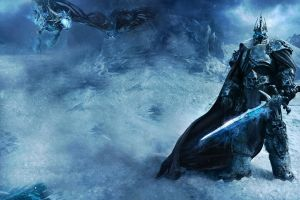 sword world of warcraft arthas menethil  creature lich king dragon fantasy art