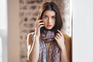 tatyana kozelkina portrait pink nails women maxim maximov