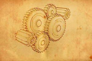 technology sketches gears minimalism