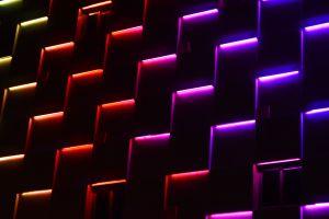 texture digital art neon abstract colorful dark