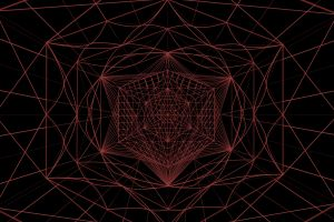 texture triangle geometry red artwork pattern abstract line art hexagon