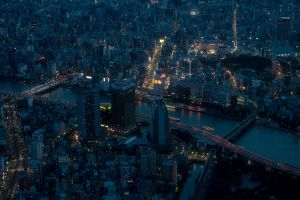 tokyo city night city lights