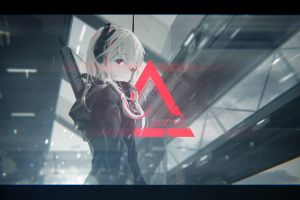 triangle red eyes anime m4 sopmod ii (girls frontline) girls frontline anime girls