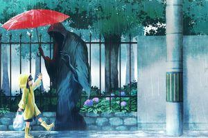 umbrella death raincoat rain