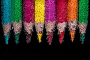 underwater pencils colorful