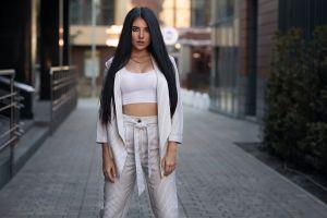 urban kristina romanova dmitry shulgin women women outdoors dark hair