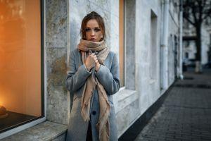 urban women candles grey coat coats overcoats aleksandr kurennoi women outdoors
