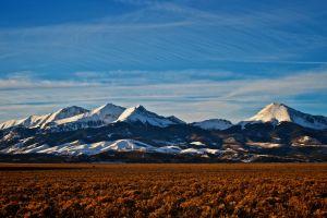 usa snow colorado mountains peak snowy peak sky horizon