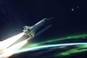 vadim sadovski digital art space shuttle space art space planet
