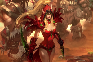 valeera world of warcraft elven warcraft blizzard entertainment looking at viewer artwork video games cleavage rogue pointed ears digital art tight clothing valeera sanguinar blonde