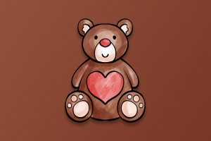valentine's day heart (design) heart simple background teddy bears digital