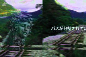 vaporwave classical art rail