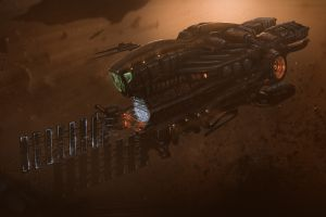 vehicle artwork spaceship science fiction dmitrii ustinov
