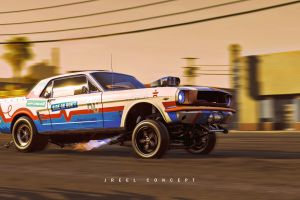 vehicle concept art ford mustang car