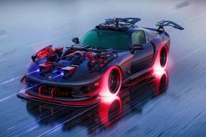vehicle dodge viper car digital art concept car