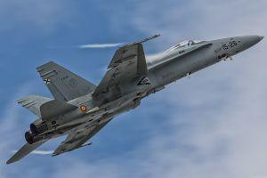 vehicle military aircraft tetas mcdonnell douglas f/a-18 hornet spain military aircraft