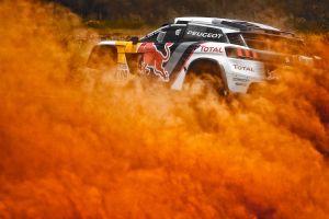 vehicle peugeot racing car dirt