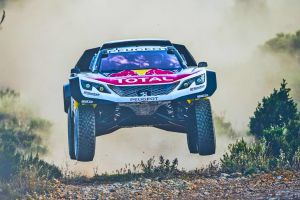 vehicle race cars rally jumping peugeot car