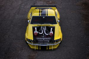 vehicle rostislav prokop car ford mustang yellow cars twin-turbo ford