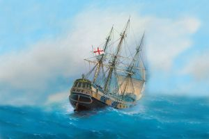 vehicle sea ship painting classical art ocean battle artwork flot