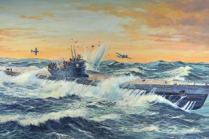 vehicle submarine artwork military