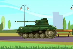vehicle tank military landscape artwork