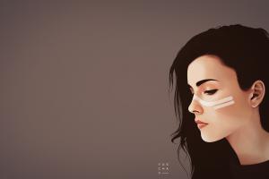 vexel minimalism women artwork brunette digital art vector yuschav arly