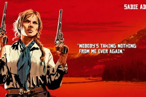 video game art 2018 (year) quote red dead redemption 2 sadie adler rockstar games video games revolver